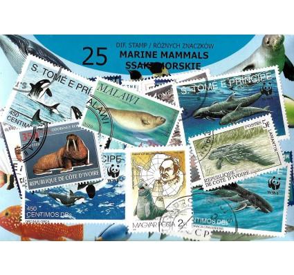 Pakiet filatelistyczny SSAKI MORSKIE 25 znaczkow