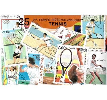 Pakiet filatelistyczny TENIS 25 znaczkow