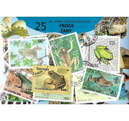 Pakiet filatelistyczny ŻABY 25 znaczkow