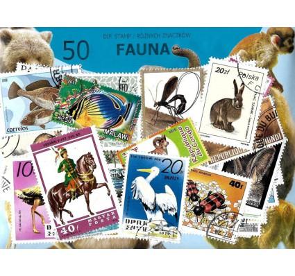 Pakiet filatelistyczny FAUNA 50 znaczkow