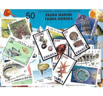Pakiet filatelistyczny FAUNA MORSKA 50 znaczkow