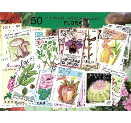 Pakiet filatelistyczny FLORA 50 znaczkow