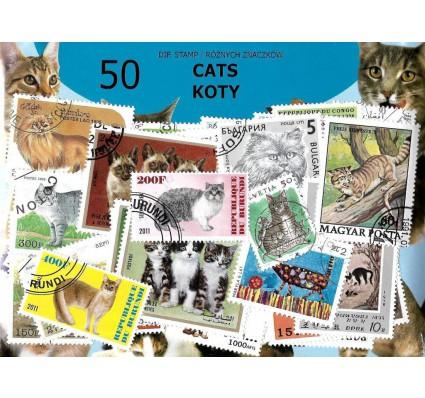 Pakiet filatelistyczny KOTY 50 znaczkow