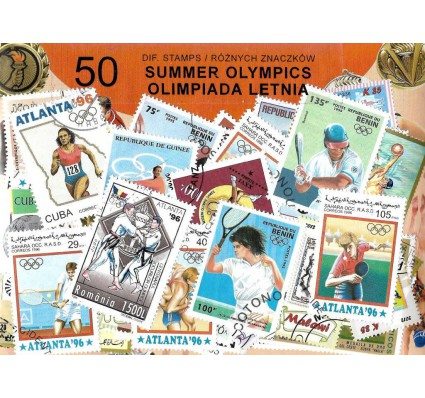 Pakiet filatelistyczny OLIMPIADY LETNIE 50 znaczkow
