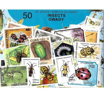 Pakiet filatelistyczny OWADY 50 znaczkow