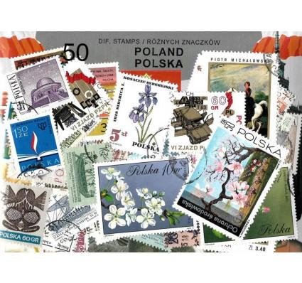 Pakiet filatelistyczny POLSKA 50 znaczkow