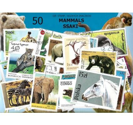 Pakiet filatelistyczny SSAKI 50 znaczkow