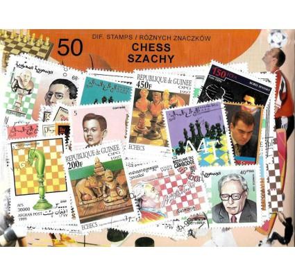 Pakiet filatelistyczny SZACHY 50 znaczkow