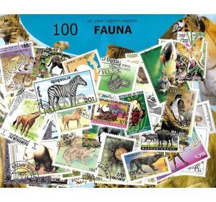 Pakiet filatelistyczny FAUNA 100 znaczkow