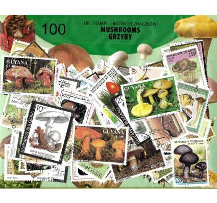 Pakiet filatelistyczny GRZYBY 100 znaczkow