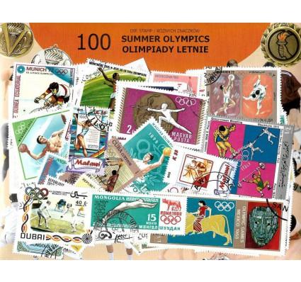Pakiet filatelistyczny OLIMPIADY LETNIE 100 znaczkow