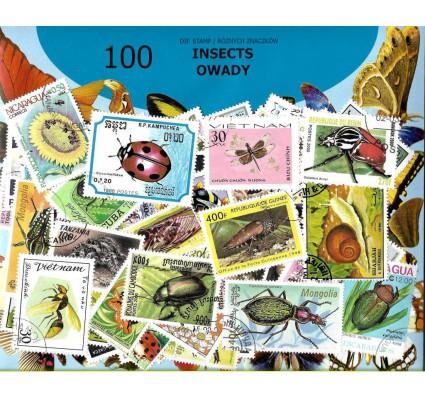 Pakiet filatelistyczny OWADY 100 znaczkow