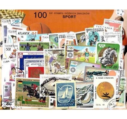Pakiet filatelistyczny SPORT 100 znaczkow