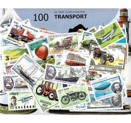 Pakiet filatelistyczny TRANSPORT 100 znaczkow