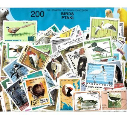 Pakiet filatelistyczny PTAKI 200 znaczkow