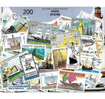 Pakiet filatelistyczny STATKI 200 znaczkow
