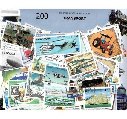 Pakiet filatelistyczny TRANSPORT 200 znaczkow