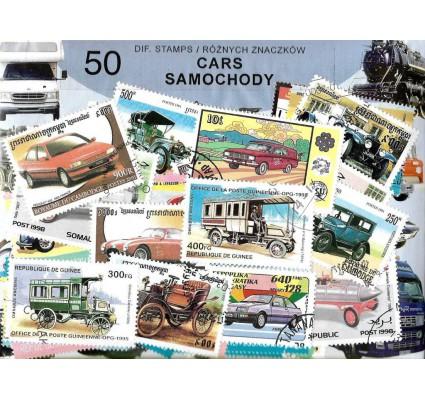 Pakiet filatelistyczny SAMOCHODY 50 znaczkow