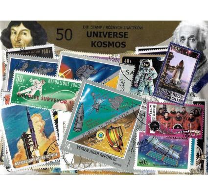 Pakiet filatelistyczny KOSMOS 50 znaczkow