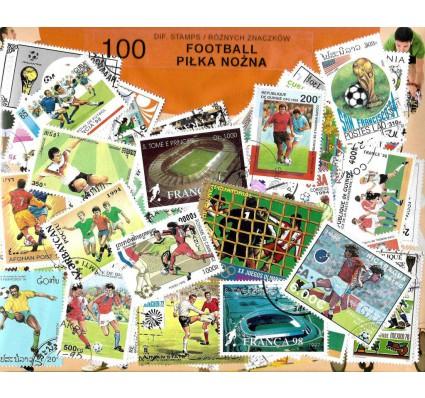 Pakiet filatelistyczny PIŁKA NOŻNA 100 znaczkow