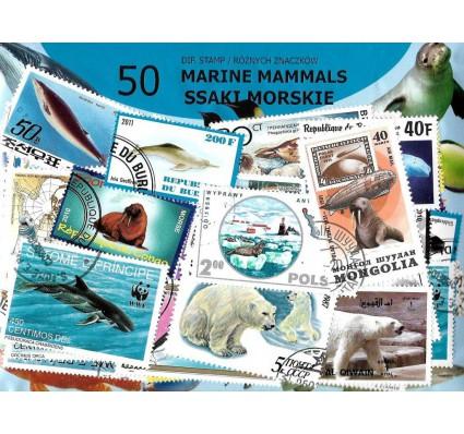 Pakiet filatelistyczny SSAKI MORSKIE 50 znaczkow