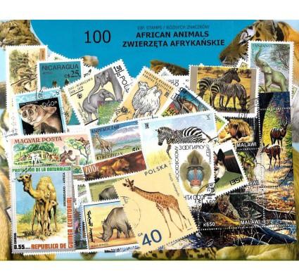 Pakiet filatelistyczny FAUNA AFRYKI 100 znaczkow