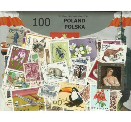 Pakiet filatelistyczny POLSKA 100 znaczkow