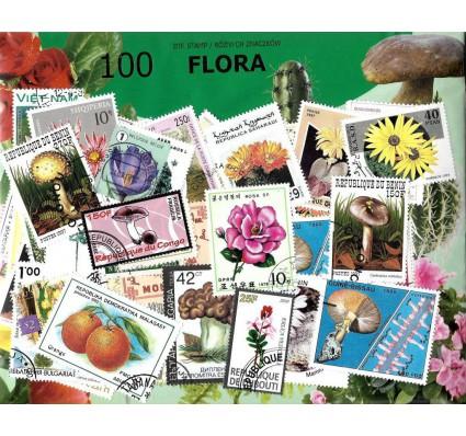 Pakiet filatelistyczny FLORA 100 znaczkow