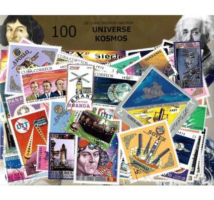 Pakiet filatelistyczny KOSMOS 100 znaczkow