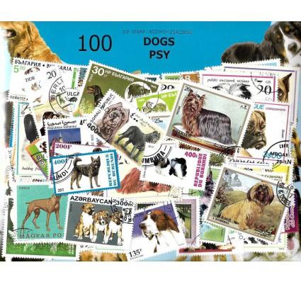 Pakiet filatelistyczny PSY 100 znaczkow