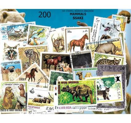 Pakiet filatelistyczny SSAKI 200 znaczkow