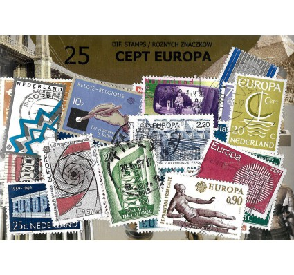 Pakiet filatelistyczny CEPT EUROPA 25 znaczkow