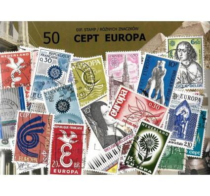 Pakiet filatelistyczny CEPT EUROPA 50 znaczkow