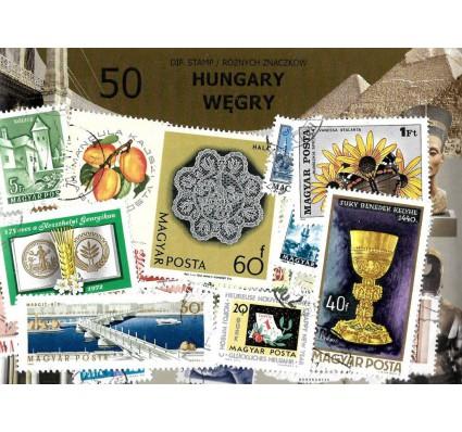 Pakiet filatelistyczny WĘGRY 50 znaczkow