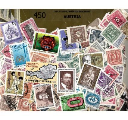 Pakiet filatelistyczny AUSTRIA 450 znaczkow