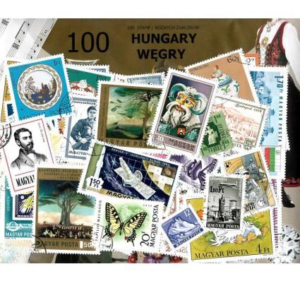 Pakiet filatelistyczny WĘGRY 100 znaczkow