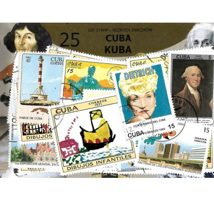 Pakiet filatelistyczny KUBA 25 znaczkow