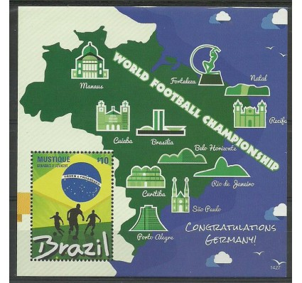 St. Vincent i Grenadyny / Mustique 2014 Mi bl 71 Czyste **