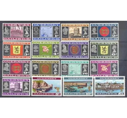 Znaczek Guernsey 1969 Mi 8-23 Czyste **