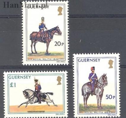Znaczek Guernsey 1975 Mi 118-120 Czyste **