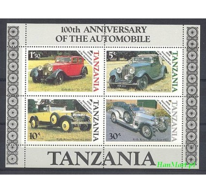 Tanzania 1986 Mi bl 53 Czyste **