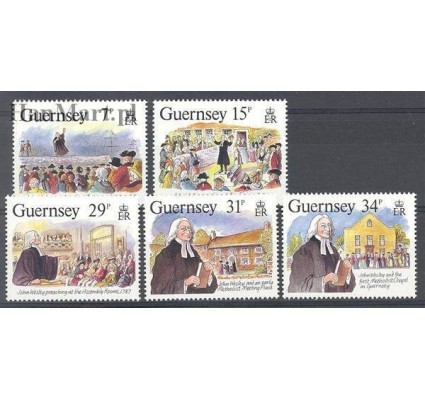 Znaczek Guernsey 1987 Mi 403-407 Czyste **