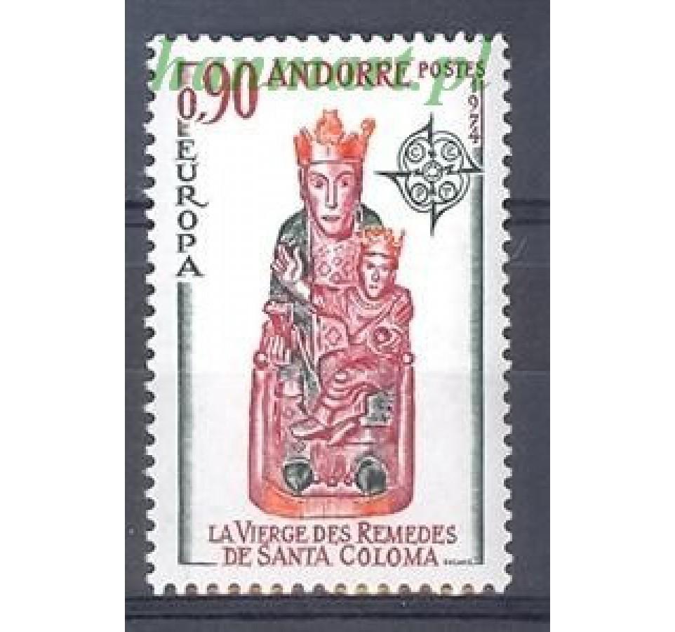 Andora Francuska 1974 Mi 259 Czyste **