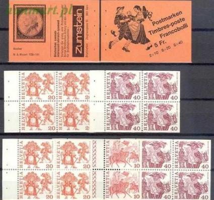Znaczek Szwajcaria 1979 Mi mh 72 Czyste **