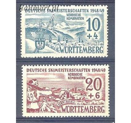 Znaczek Wurttemberg / Wirtembergia 1949 Mi 38-39 Czyste **