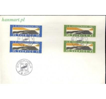 Znaczek Szwecja 1967 Mi 588-589 FDC