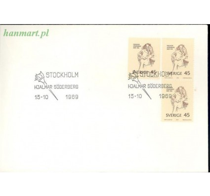 Znaczek Szwecja 1969 Mi 653 FDC