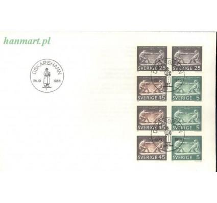 Znaczek Szwecja 1968 Mi h-blatt 46 FDC