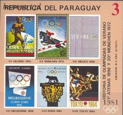 Znaczek Paragwaj 1972 Mi bl 187 Czyste **