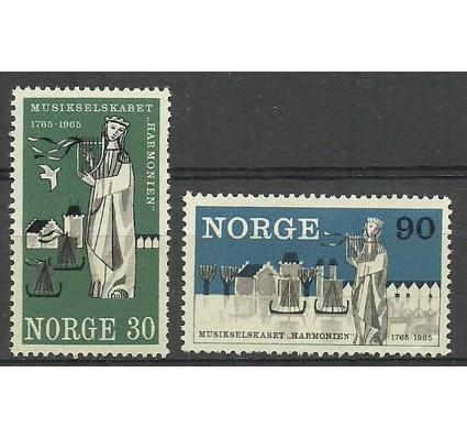 Znaczek Norwegia 1965 Mi 534-535 Czyste **